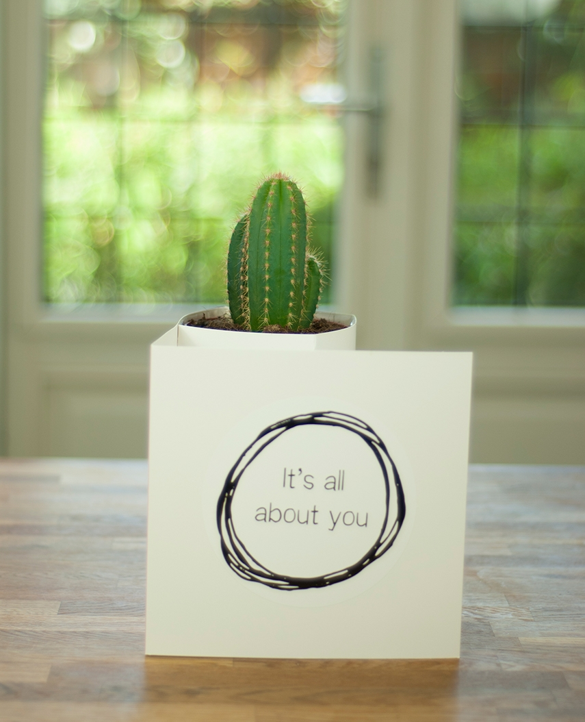 Cactus & Bloomincard Its all about you